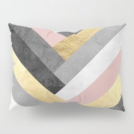 Golden bands V Pillow Sham