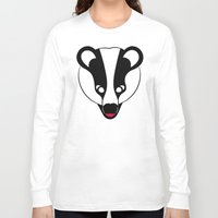 badger Long Sleeve T-shirts featuring Badger by Doctor Hue