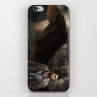 castiel iPhone & iPod Skins featuring Castiel by Amanda Shae