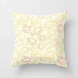 smiley flowers Throw Pillow