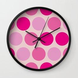 Miss Sweet Tooth Polka Dots Wall Clock