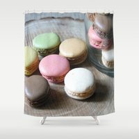 macarons Shower Curtains featuring Macarons by Cristina Cavallari