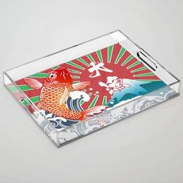 fishing flag Acrylic Tray