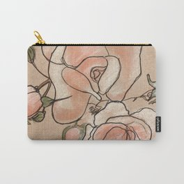 Pink Roses in Bunch Carry-All Pouch
