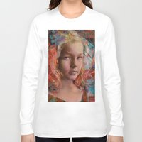 alice in wonderland Long Sleeve T-shirts featuring Alice in wonderland by Ganech joe