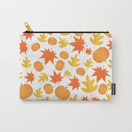 Colorful leaves and pumpkins Carry-All Pouch