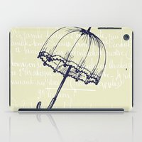 umbrella iPad Cases featuring Umbrella by Mr and Mrs Quirynen