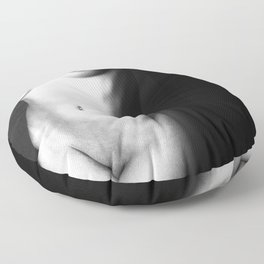 Black and white nude woman's body Floor Pillow