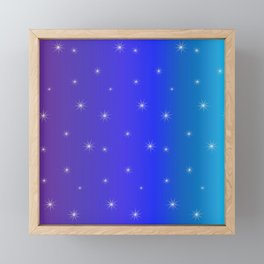 Starry Starry Blue Night Framed Mini Art Print