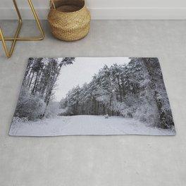 Snowy Path Rug