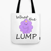 lumpy space princess Tote Bags featuring Kawaii Lumpy Space Princess by AstralWisp