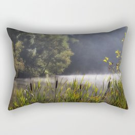 Autumn Mist at Mallards Pike Rectangular Pillow