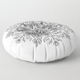 Thrive - Monochrome Mandala Floor Pillow