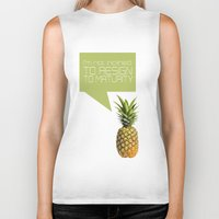 psych Biker Tanks featuring psych tv show... im not inclined to resign to maturity by studiomarshallarts