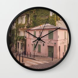 Montmartre streets at sunrise | Paris | Europe | Travel photography Wall Clock