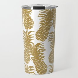Gold Pineapples Travel Mug