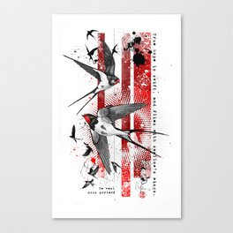 wings of a swallow Canvas Print