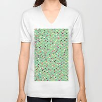 mexico V-neck T-shirts featuring Mexico by Camille Hermant