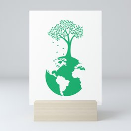 Tree Planet Earth Day product Mini Art Print