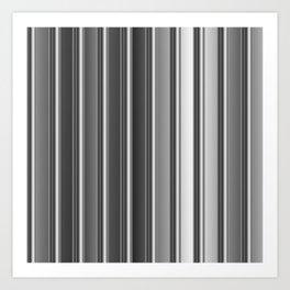 Aluminum silver stripe texture Art Print