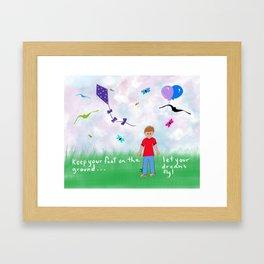 Let Your Deams Fly Framed Art Print