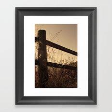 Broken Fence Framed Art Print