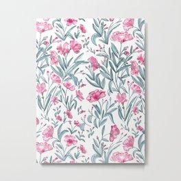 Nerium Oleander Pattern Metal Print