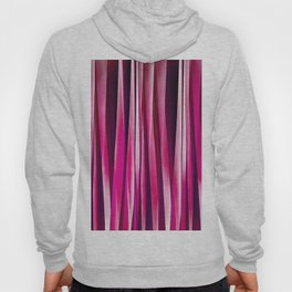 Burgundy Rose Stripy Lines Pattern Hoody