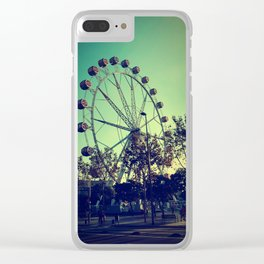 Barcelona Ferris Wheel Clear iPhone Case