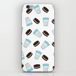 Oreo and milk pattern iPhone Skin