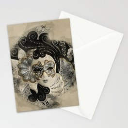 Venetian Mask Stationery Cards