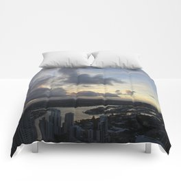 Golden sunsets Comforters