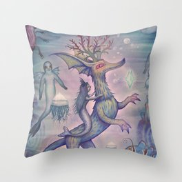 In the Turquoise Glacier Reef Throw Pillow
