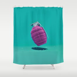 Smart Bomb Shower Curtain