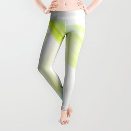 Green Bamboo Leaf Leggings