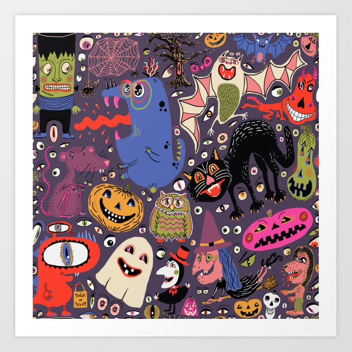 Yay for Halloween! Art Print
