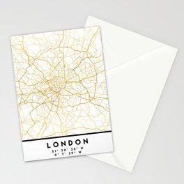 LONDON ENGLAND CITY STREET MAP ART Stationery Cards