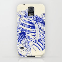 collarbone blue iPhone Case