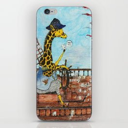 Captain Giraffe iPhone Skin