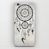 dreamcatcher iPhone & iPod Skins featuring Dreamcatcher by Nora Bisi