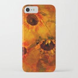 Autumn Playful Sunflowers iPhone Case