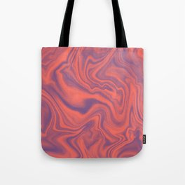 Living Coral - color of year 2019, Ultra Violet Marble Abstract Gradient Pattern Tote Bag