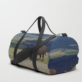 Vast Frontier, Mountains and Bison Duffle Bag