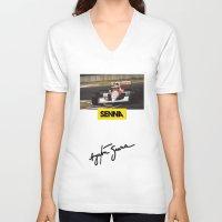 senna V-neck T-shirts featuring Senna by Rassva