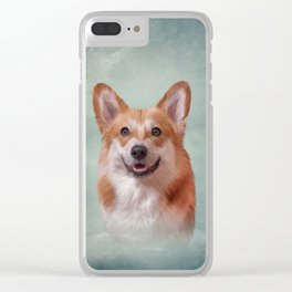 Drawing Dog breed Welsh Corgi portrait Clear iPhone Case