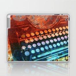 Typewriter Blue Red PopArt Laptop & iPad Skin