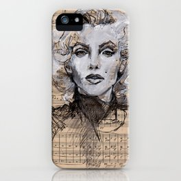 Monroe Music Sheet iPhone Case