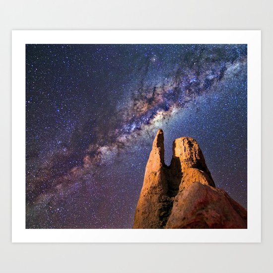 Night sky iii - galaxy Art Print