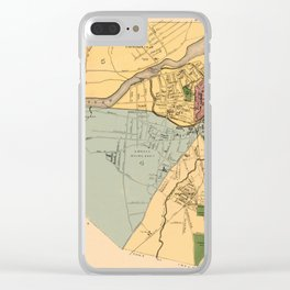 Map Of Lowell 1881 Clear iPhone Case