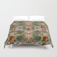 flora Duvet Covers featuring Flora by Julia Bianchi